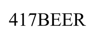 mark for 417BEER, trademark #86051857