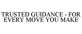 mark for TRUSTED GUIDANCE - FOR EVERY MOVE YOU MAKE, trademark #86060012