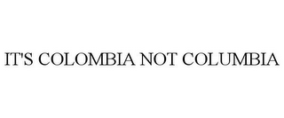 mark for IT'S COLOMBIA NOT COLUMBIA, trademark #86060952