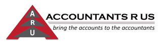 mark for ARU ACCOUNTANTS R US BRING THE ACCOUNTS TO THE ACCOUNTANTS, trademark #86061136