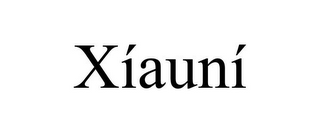 mark for XÍAUNÍ, trademark #86061441