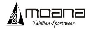 mark for MOANA TAHITIAN SPORTSWEAR, trademark #86065730