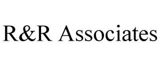 mark for R&R ASSOCIATES, trademark #86081995