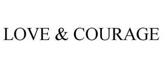 mark for LOVE & COURAGE, trademark #86109173