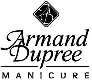 mark for AD ARMAND DUPREE MANICURE, trademark #86119030