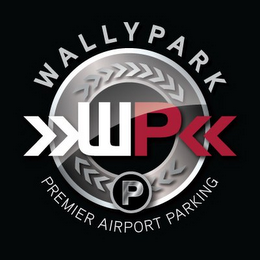 mark for WP WALLYPARK PREMIER AIRPORT PARKING P, trademark #86129694
