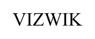 mark for VIZWIK, trademark #86132386