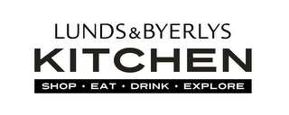 mark for LUNDS & BYERLYS KITCHEN SHOP EAT DRINK EXPLORE, trademark #86135007