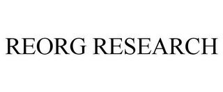 mark for REORG RESEARCH, trademark #86143975