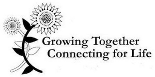 mark for GROWING TOGETHER CONNECTING FOR LIFE, trademark #86156210