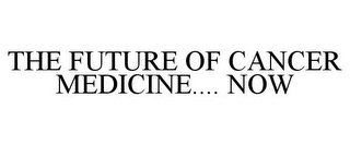 mark for THE FUTURE OF CANCER MEDICINE.... NOW, trademark #86156447