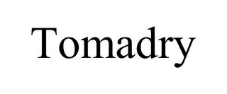 mark for TOMADRY, trademark #86161131