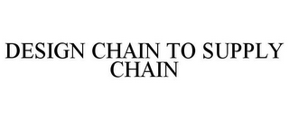 mark for DESIGN CHAIN TO SUPPLY CHAIN, trademark #86163871