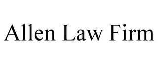 mark for ALLEN LAW FIRM, trademark #86166748