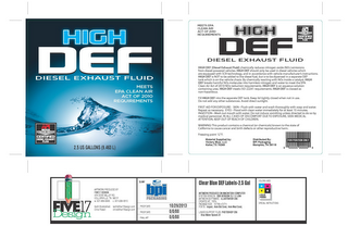 mark for HIGH DEF DIESEL EXHAUST FLUID, trademark #86170640