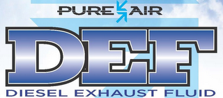 mark for PURE AIR DEF DIESEL EXHAUST FLUID, trademark #86191814