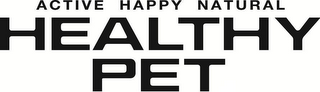 mark for HEALTHY PET ACTIVE HAPPY NATURAL, trademark #86226380