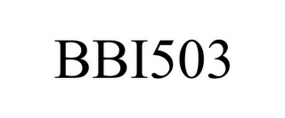 mark for BBI503, trademark #86246436