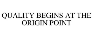 mark for QUALITY BEGINS AT THE ORIGIN POINT, trademark #86290428