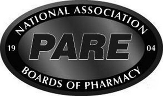 mark for 1904 NATIONAL ASSOCIATION BOARDS OF PHARMACY PARE, trademark #86301169
