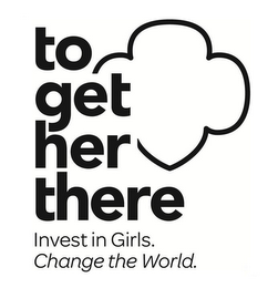 mark for TO GET HER THERE INVEST IN GIRLS. CHANGE THE WORLD., trademark #86310337