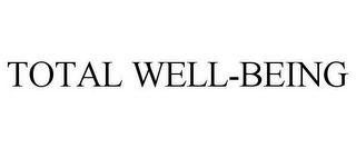mark for TOTAL WELL-BEING, trademark #86326355