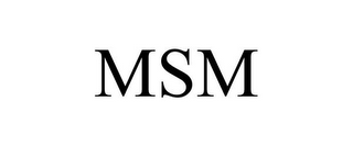 mark for MSM, trademark #86330486