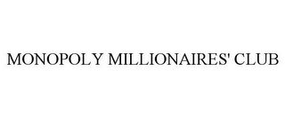 mark for MONOPOLY MILLIONAIRES' CLUB, trademark #86331830