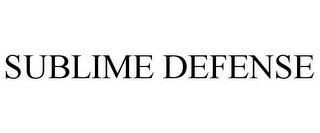 mark for SUBLIME DEFENSE, trademark #86351813