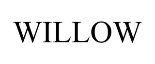 mark for WILLOW, trademark #86356457
