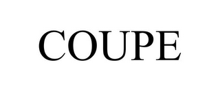 mark for COUPE, trademark #86397587