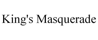 mark for KING'S MASQUERADE, trademark #86423796