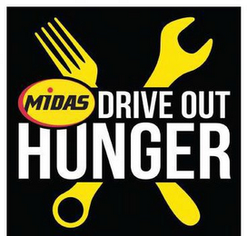 mark for MIDAS DRIVE OUT HUNGER, trademark #86425312