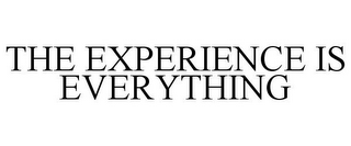 mark for THE EXPERIENCE IS EVERYTHING, trademark #86433469