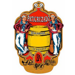 mark for PATICRUZADO RON ALVAREZ S.A. LOS MARINOS RA, trademark #86470654