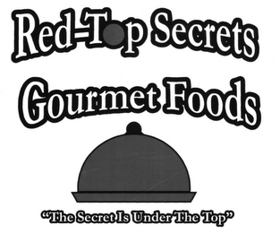 "mark for RED-TOP SECRETS GOURMET FOODS ""THE SECRET IS UNDER THE TOP"", trademark #86477543"
