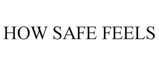 mark for HOW SAFE FEELS, trademark #86493142