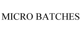 mark for MICRO BATCHES, trademark #86505615