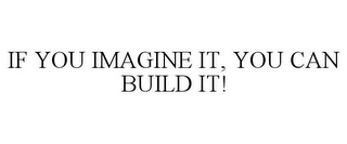 mark for IF YOU IMAGINE IT, YOU CAN BUILD IT!, trademark #86554732