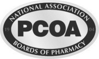 mark for 1904 NATIONAL ASSOCIATION BOARDS OF PHARMACY PCOA, trademark #86563155