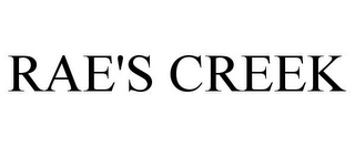 mark for RAE'S CREEK, trademark #86566141