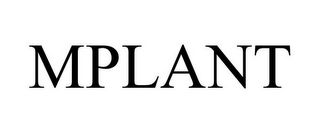 mark for MPLANT, trademark #86566511