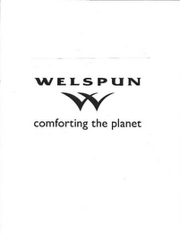 mark for WELSPUN W COMFORTING THE PLANET, trademark #86585777