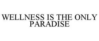 mark for WELLNESS IS THE ONLY PARADISE, trademark #86594297