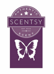 mark for AUTHENTIC SCENTSY SCENT, EST. 2004, trademark #86653138