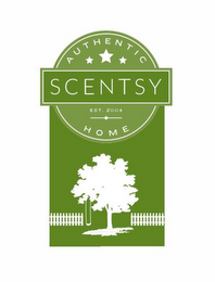 mark for AUTHENTIC SCENTSY HOME, EST. 2004, trademark #86655184