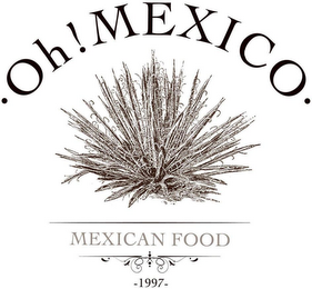 mark for OH! MEXICO MEXICAN FOOD 1997, trademark #86699871