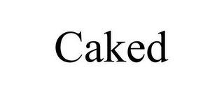 mark for CAKED, trademark #86721712