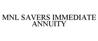 mark for MNL SAVERS IMMEDIATE ANNUITY, trademark #86782296