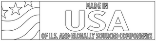 mark for MADE IN USA OF U.S. AND GLOBALLY SOURCED COMPONENTS, trademark #86786659